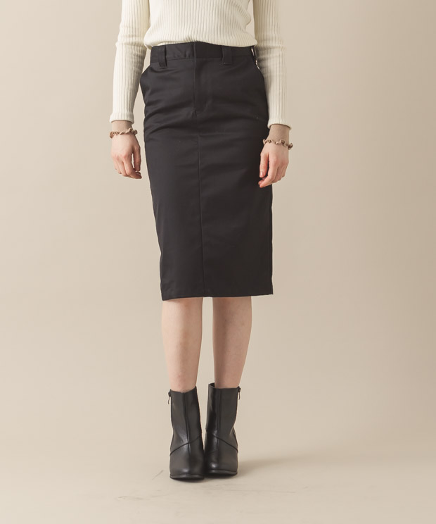 West-Point Tight Skirt - BLACK
