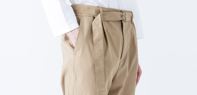 COOLMAX FABRIC BELTED PANTS / FOR MEN